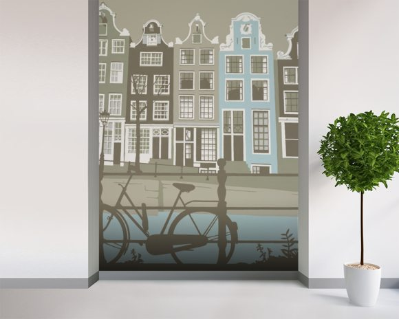 Amsterdam wall mural room setting