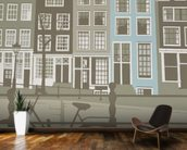 Amsterdam wall mural kitchen preview