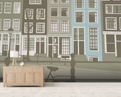 Amsterdam wall mural living room preview
