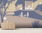 Boscombe Pier and Beach wall mural living room preview