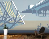 Bournemouth Pier and Deckchairs wall mural kitchen preview