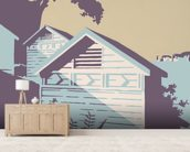 Canford Cliffs and Old Harry Rocks wall mural living room preview