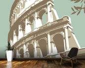 Rome Colosseum mural wallpaper kitchen preview