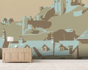 Corfe Castle wall mural living room preview