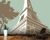 Eiffel Tower wall mural kitchen preview
