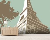 Eiffel Tower wall mural living room preview