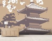 Japan mural wallpaper living room preview