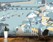Looe wallpaper mural kitchen preview