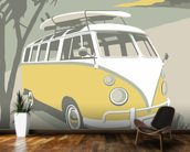 Marazion Camper mural wallpaper kitchen preview