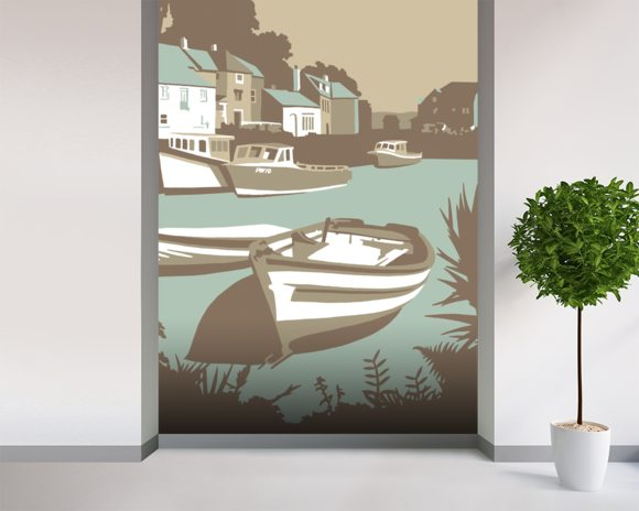Padstow 1 wall mural room setting