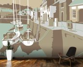 Padstow 2 wallpaper mural kitchen preview