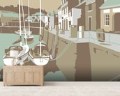 Padstow 2 wallpaper mural living room preview