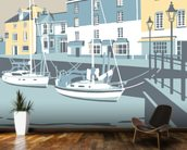 Padstow 3 mural wallpaper kitchen preview