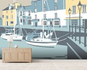 Padstow 3 mural wallpaper living room preview