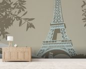 Paris wall mural living room preview