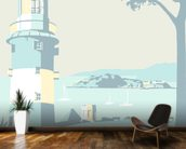 Plymouth Lighthouse mural wallpaper kitchen preview