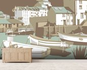 Polperro wall mural living room preview