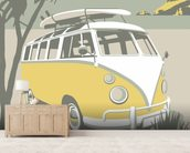 Polzeath Camper wallpaper mural living room preview