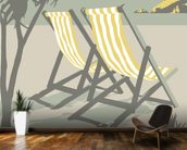 Polzeath Deckchairs mural wallpaper kitchen preview