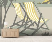 Polzeath Deckchairs mural wallpaper living room preview