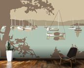 Poole Harbour View wallpaper mural kitchen preview