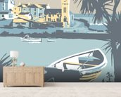 Porthleven wall mural living room preview