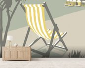 Rock Deckchair wallpaper mural living room preview