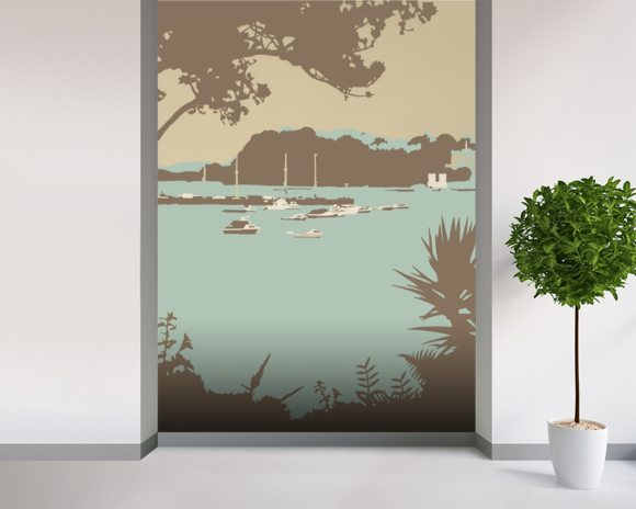 Sandbanks and Brownsea Island wallpaper mural room setting