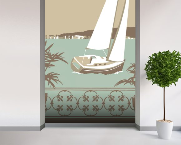 Sandbanks Balcony 2 wall mural room setting