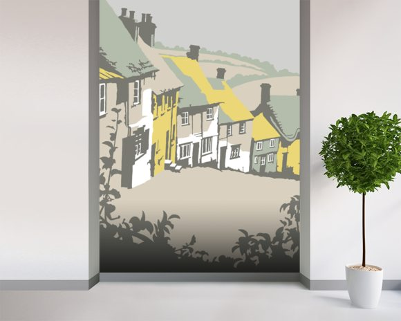 Shaftesbury wall mural room setting
