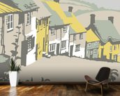 Shaftesbury wall mural kitchen preview