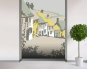 Shaftesbury wall mural in-room view