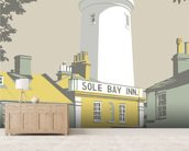 Sole Bay Inn 1 mural wallpaper living room preview