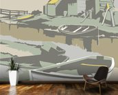 Southwold Harbour 2 mural wallpaper kitchen preview