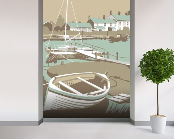 Southwold Harbour 1 wall mural room setting