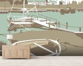 Southwold Harbour 1 wall mural living room preview