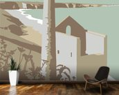 St Agnes wall mural kitchen preview