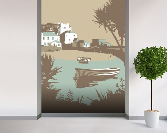 St Ives 1 wallpaper mural room setting