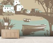 St Ives 1 wallpaper mural living room preview
