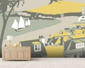 St Ives 3 wall mural living room preview