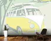 St Ives Camper wallpaper mural kitchen preview