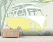 St Ives Camper wallpaper mural living room preview