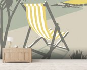 St Ives Deckchair mural wallpaper living room preview