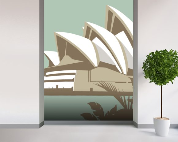 Sydney Opera House wall mural room setting