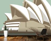 Sydney Opera House wall mural kitchen preview