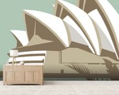 Sydney Opera House wall mural living room preview