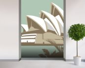 Sydney Opera House wall mural in-room view