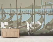 Venice wall mural living room preview