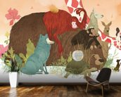 Animal talk wall mural kitchen preview