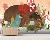 Animal talk wall mural living room preview
